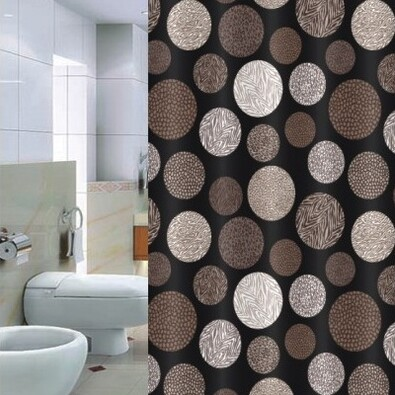 Sprchový závěs Pesaro hnědá, 180 x 200 cm