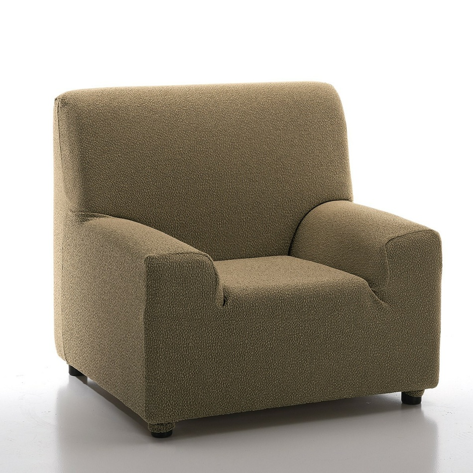 Multielastyczny pokrowiec na fotel Petra gold, 70 - 100 cm, 70 - 100 cm