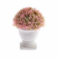 Floare artificială în ghiveci din beton roz, 15x 12 cm