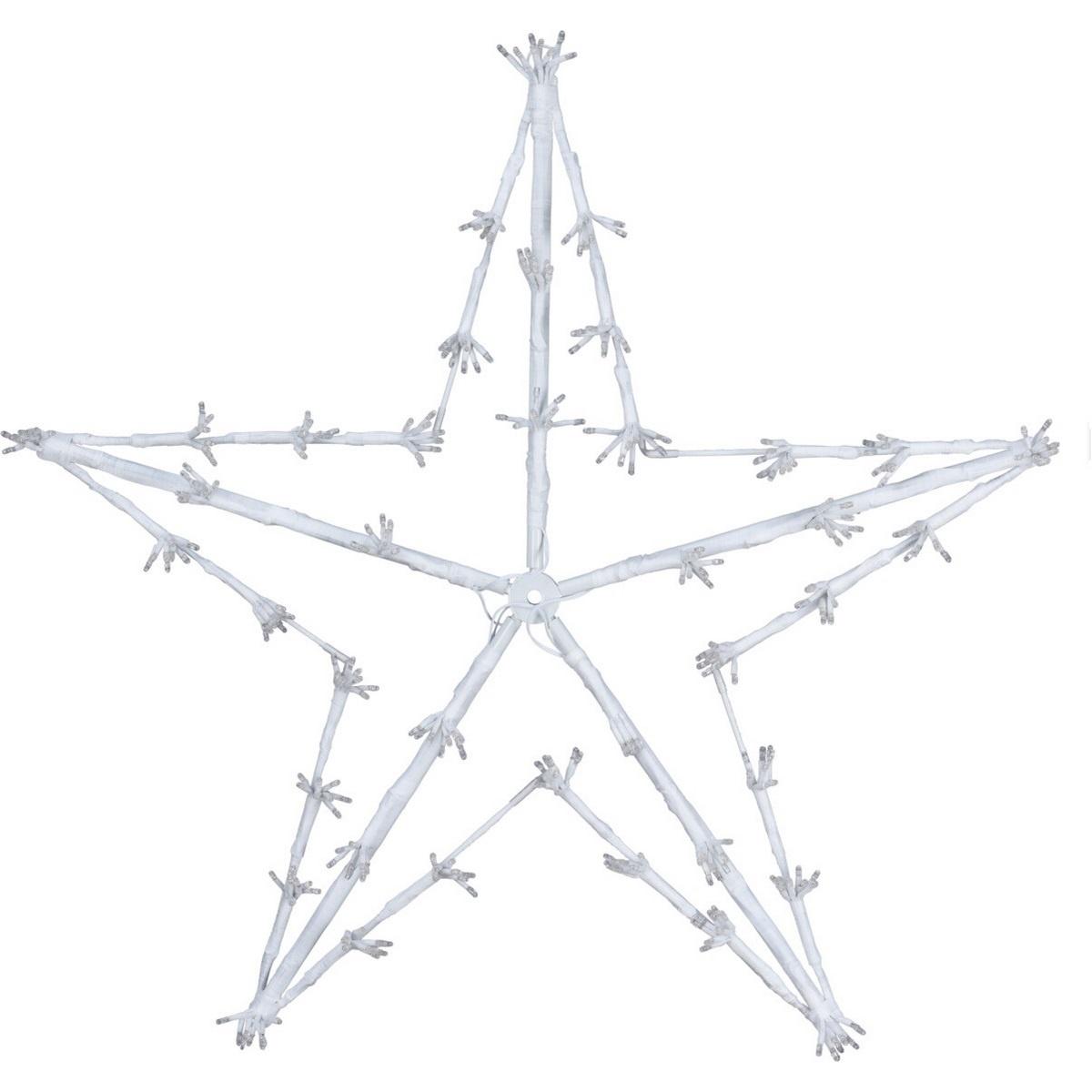 Vánoční LED dekorace White star, 80 cm
