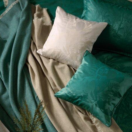 Stella Ateliers Dekorační damaškový povlak na polštářek Juna zelená, 40 x 40 cm