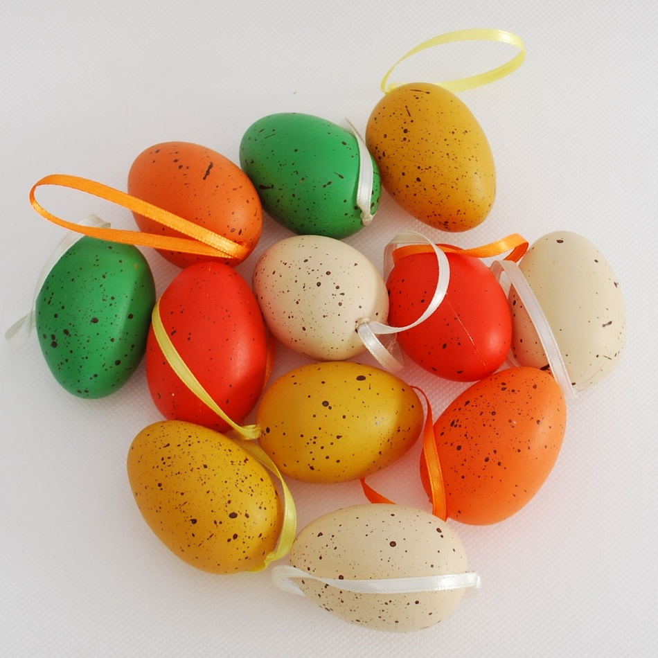Sada velikonočních křepelčích vajíček, 12 ks