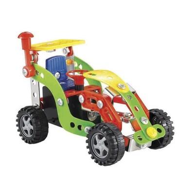 Traktor gyerek építő játék, 12 cm