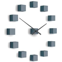 Ceas de design Future Time FT3000GY Cubic grey, autoadeziv, diam. 50 cm