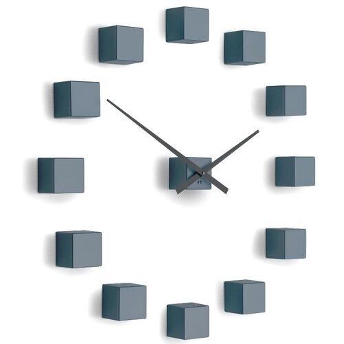 Future Time FT3000GY Cubic grey Design falra ragasztható óra, átmérő 50 cm