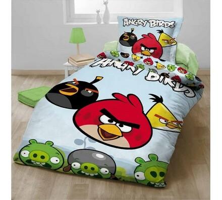 Dětské bavlněné povlečení Angry Birds, 140x200, 70 , 140 x 200 cm, 70 x 90 cm
