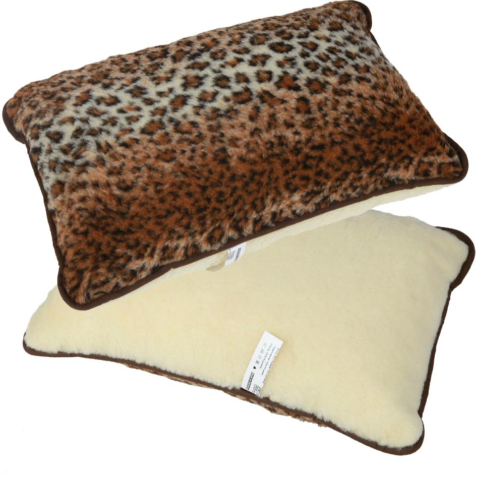 Modom Vlnený vankúš Merino leopard, 40 x 60 cm,