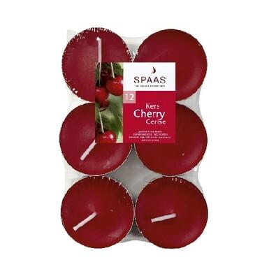 Spaas Cherry čajové svíčky 12 ks