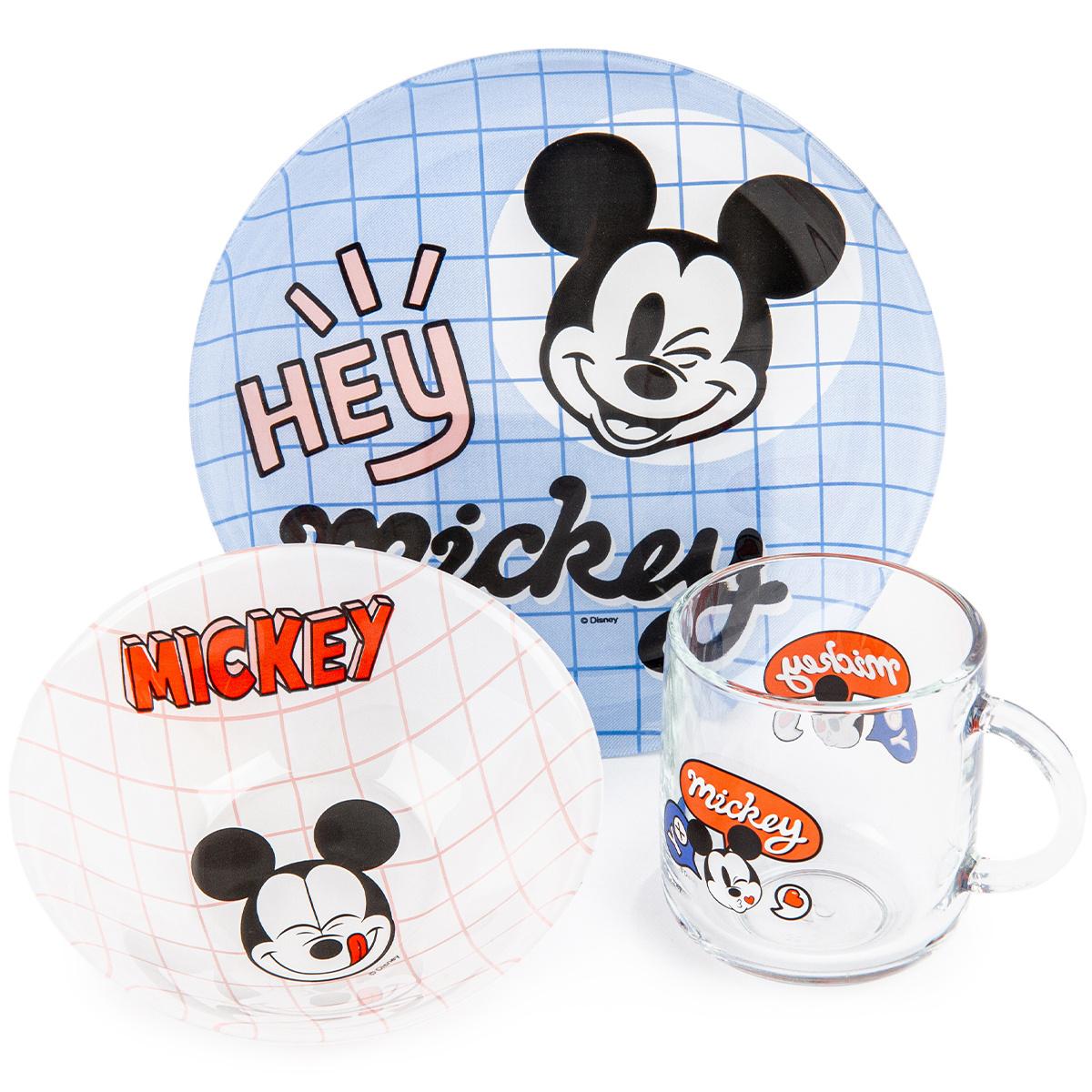 Mäser 3-dielna detská jedálenská súprava Mickey Mouse
