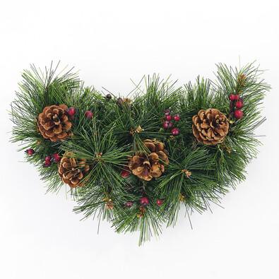 Dekorativní vánoční ozdoba měsíc, zelená