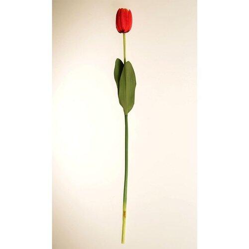Umělá květina Tulipán červená, 60 cm