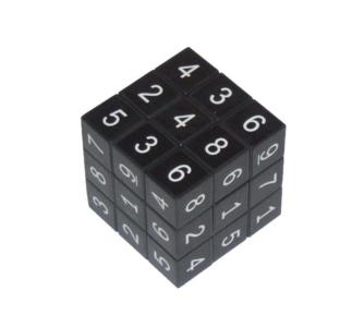 Rubikova kostka se sudoku, černá