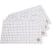 Vánoční prostírání Snowflakes, 28 x 43 cm, sada 4 ks