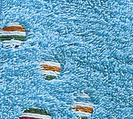 Osuška s kruhy modrá, 70 x 140 cm