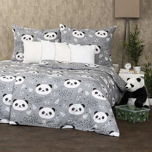 4Home Krepové povlečení Nordic Panda, 140 x 220 cm, 70 x 90 cm