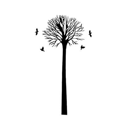 Samolepicí dekorace podzimní strom