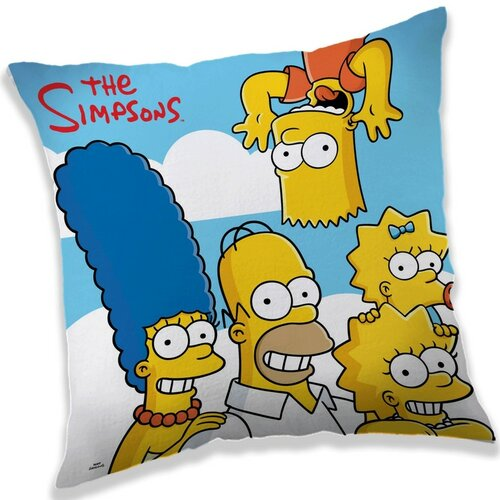 Jerry Fabrics Polštářek The Simpsons family clouds, 40 x 40 cm