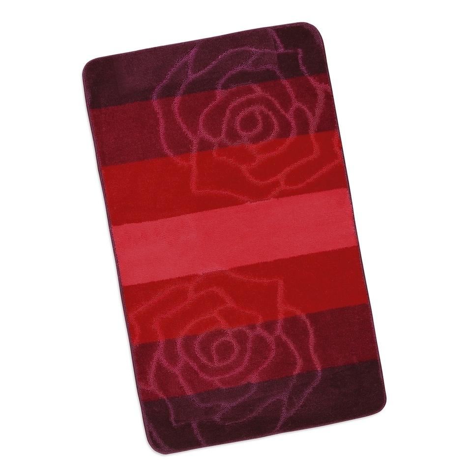 Bellatex Koupelnová předložka Elli Červená růže, 60 x 100 cm