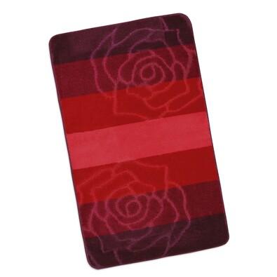 Koupelnová předložka Elli Růže červená,60 x 100 cm