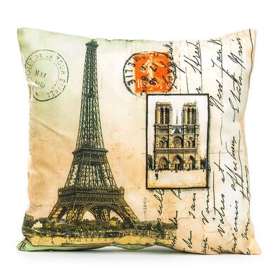 Povlak na polštářek Eiffelova věž, 45 x 45 cm