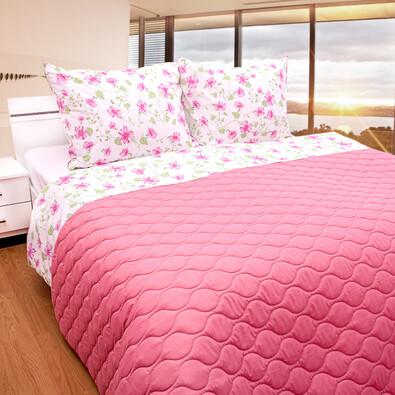 Přehoz na postel růžová, 230 x 260 cm