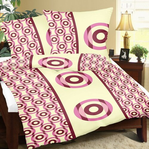 Bellatex Povlečení bavlna Terče bordo , 140 x 220 cm, 70 x 90 cm