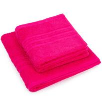 Sada ručníků a osušky Classic růžová, 2 ks 50 x 100 cm, 1 ks 70 x 140 cm