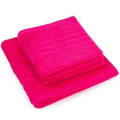 """Zestaw ręczników """"Classic"""" różowy, 2szt. 50 x 100cm, 1szt. 70 x 140cm"""