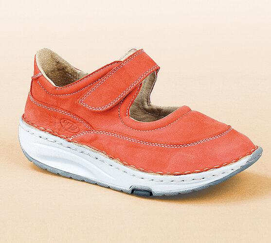 Orto Plus Sandály s plnou špičkou vel. 41 červené