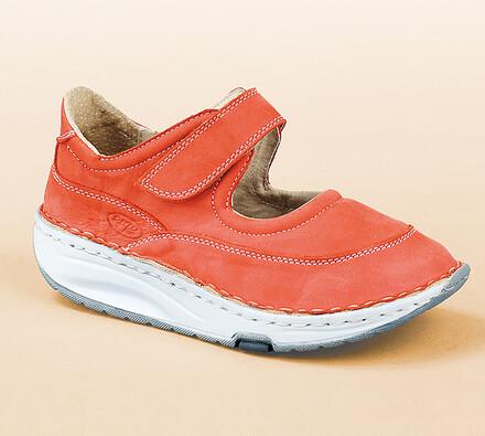 Orto Plus Sandály s plnou špičkou vel. 39 červené