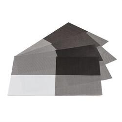 Podkładki na stół DeLuxe brązowe, 30 x 45 cm, zestaw 4 szt.