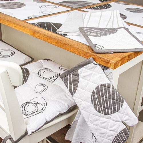 Pernă scaun Cercuri, 40 x 40 cm