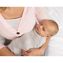 Rożek niemowlęcy szary, 80 x 120 cm
