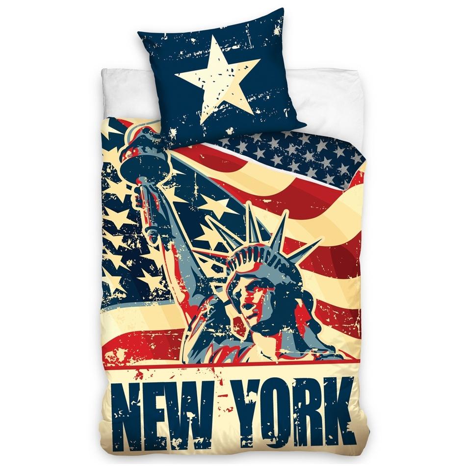TipTrade Bavlnené obliečky New York Liberty, 140 x 200 cm, 70 x 90 cm