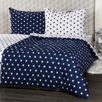 4Home Bavlnené obliečky Stars Navy blue