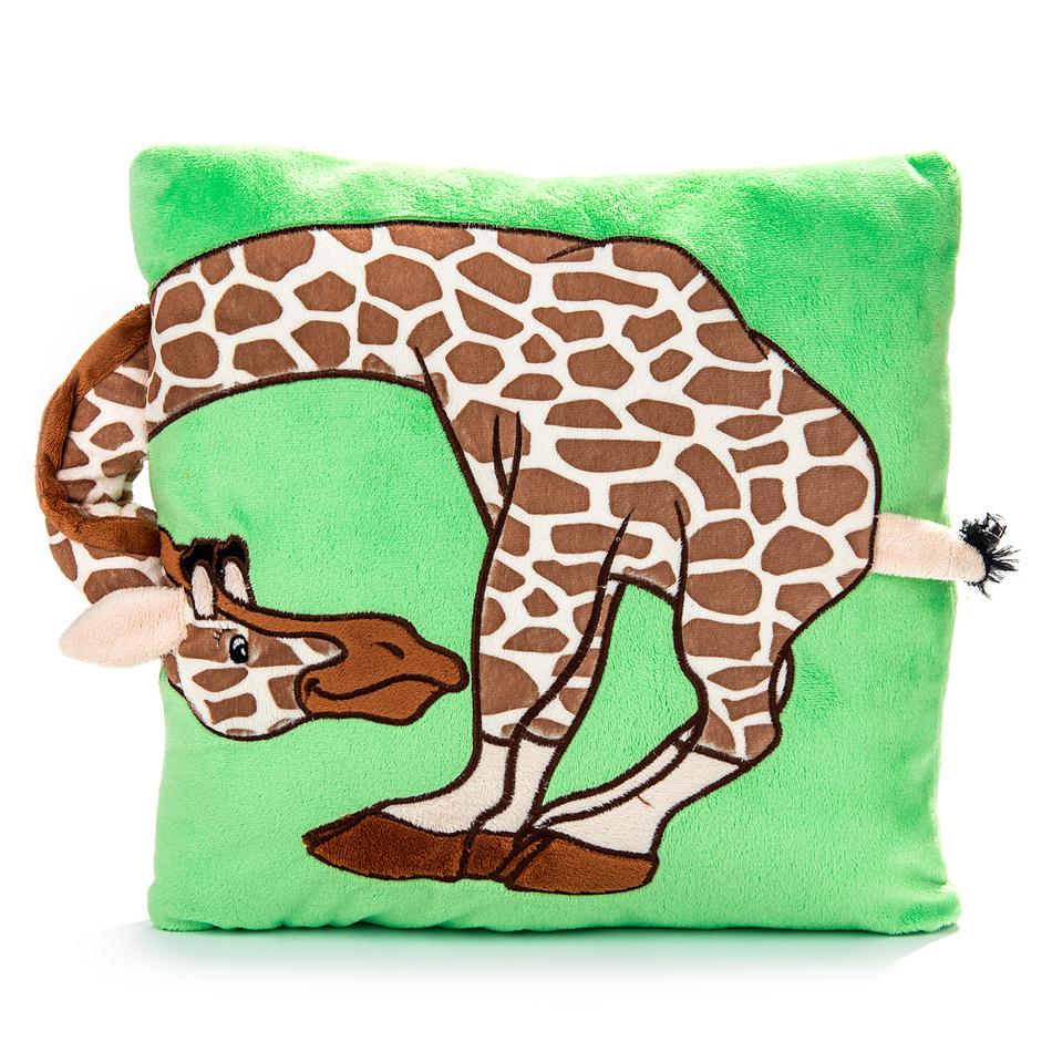 BO-MA Trading Vankúš s uchom žirafa, 33 x 33 cm