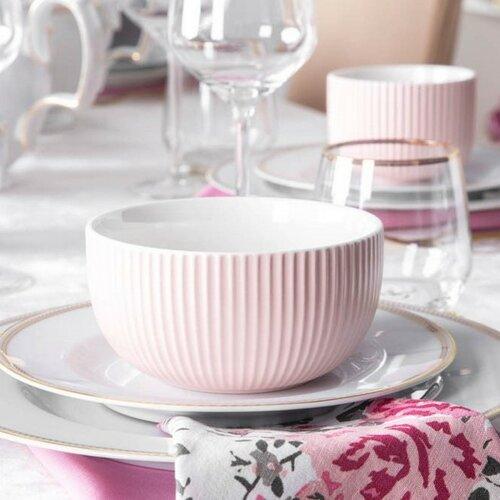 Altom Sada porcelánových misiek Ballerina ružová 12,5 cm, 6 ks