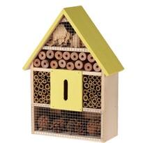 Domek dla owadów żółty, 22 x 9 x 30 cm