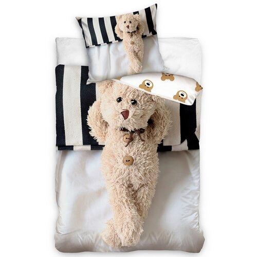 Bavlnené obliečky Plyšový Medvedík, 140 x 200 cm, 70 x 80 cm