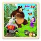 Bino Puzzle Máša a medveď s kozou, 15 x 15 cm