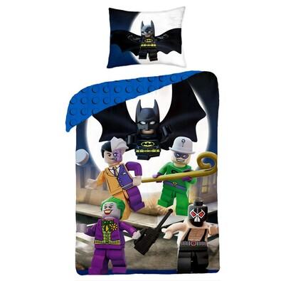 Dětské bavlněné povlečení Lego Super heroes, 140 x 200 cm, 70 x 90 cm