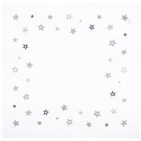 Vánoční ubrus Hvězda stříbrná