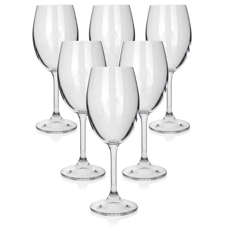 Sada sklenic na bílé víno LEONA 340 ml, 6 ks
