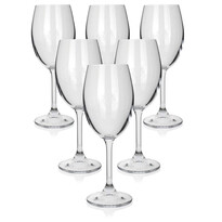 Banquet 6dílná sada sklenic na bílé víno LEONA, 340 ml
