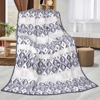 Pătură Karmela Plus Geometrie albastru cu gri, 150 x 200 cm