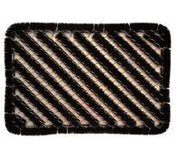 Venkovní rohožka, 39 x 59 cm, bílá + černá, 39 x 59 x 2,5 cm