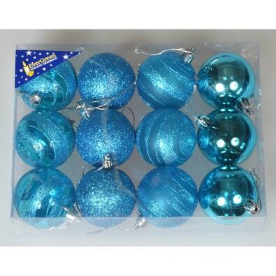 Natale karácsonyi gömbök türkiz, átm. 6 cm