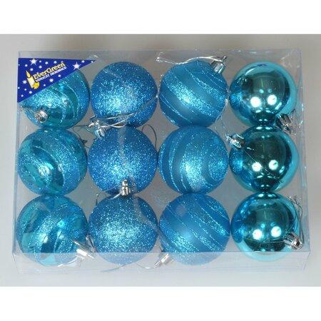 Glob de Crăciun Natale, turcoaz, diam. 6 cm