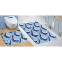 Komplet dywaników łazienkowych Ultra Kropla niebieski, 60 x 100 cm, 60 x 50 cm