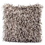 Povlak na polštářek Shaggy stříbrná, 45 x 45 cm
